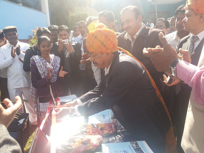 Inauguration of BOI Kiosk at Alipur and Shipra Chouraha , District Dewas on 6th Dec 2013