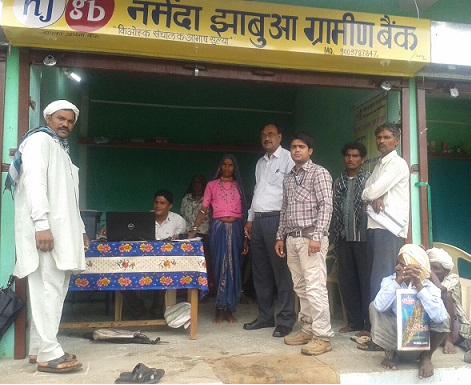 NJGB Kiosk Opening Ceremony   at Badwani Dist Chikliya Village, kiosk is open by NGJB RM Mr AK Shrivastav on 5-8-2014