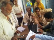 Disbursment of wages of MGNREGA through NICT-CSC (Kiosk bank)